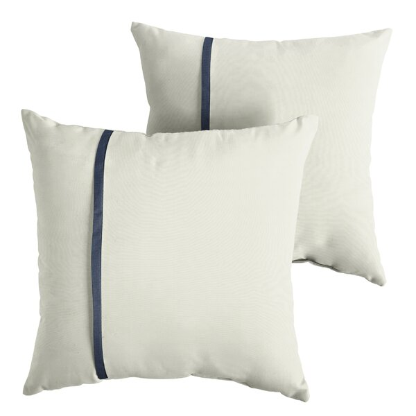 Forbell  Indoor/Outdoor Sunbrella Throw Pillow (Set of 2) by Charlton Home