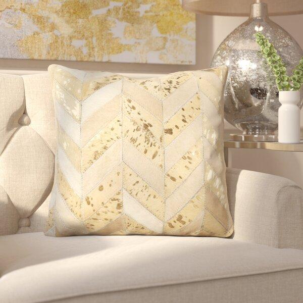 Manoj Metallic Herringbone Throw Pillow by Everly Quinn