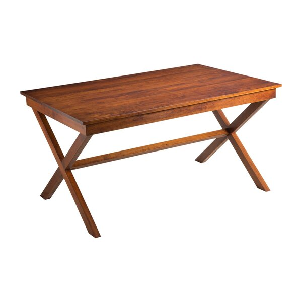 Xander Solid Wood Dining Table by Joe Ruggiero Collection