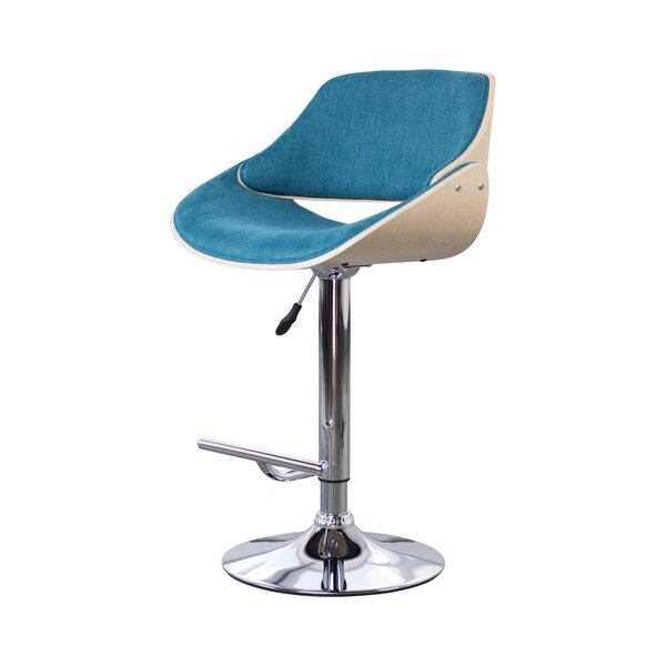 Luis Adjustable Height Swivel Bar Stool by Corrigan Studio