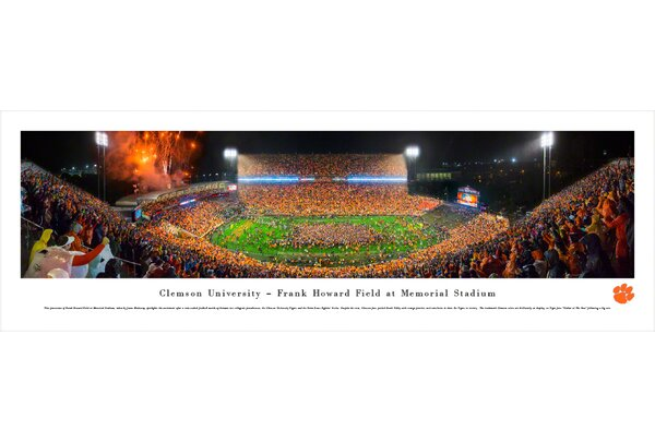 NCAA Clemson University - Football by James Blakeway Photographic Print by Blakeway Worldwide Panoramas, Inc