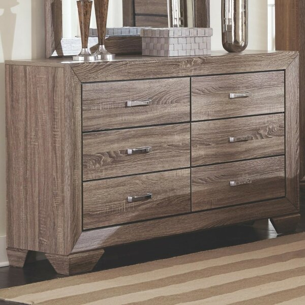 Shurtleff Transitional Style Wooden 6 Drawer Dresser By Gracie Oaks by Gracie Oaks 2020 Sale