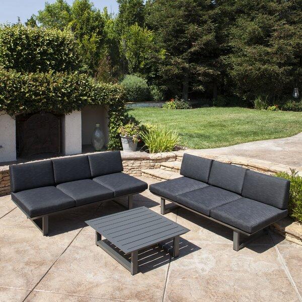 Grace 3 Piece Sofa Set with Cushions by Orren Ellis