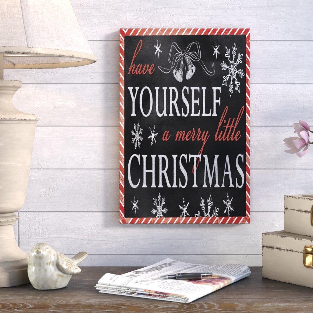 Gracie oaks have yourself a merry christmas textual art on canvas gracie oaks have yourself a merry christmas textual art on canvas reviews wayfair solutioingenieria Gallery