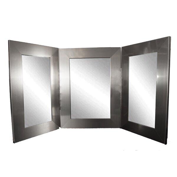 Trifold Bathroom/Vanity Mirror by Brandt Works LLC