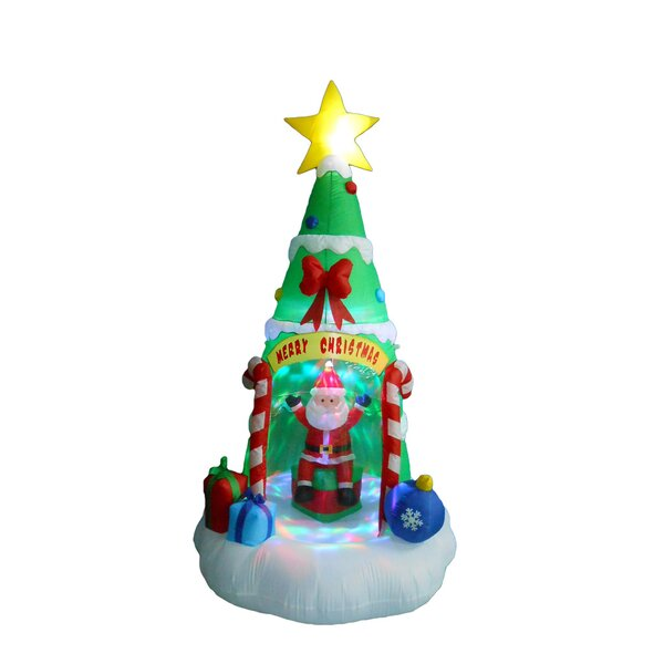 Christmas Tree with Santa Claus Christmas Decoration by The Holiday Aisle