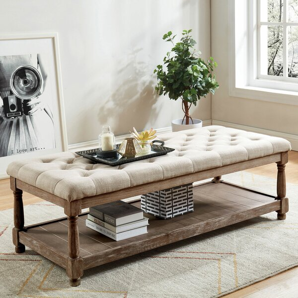 Vela Upholstered Storage Bench by Gracie Oaks