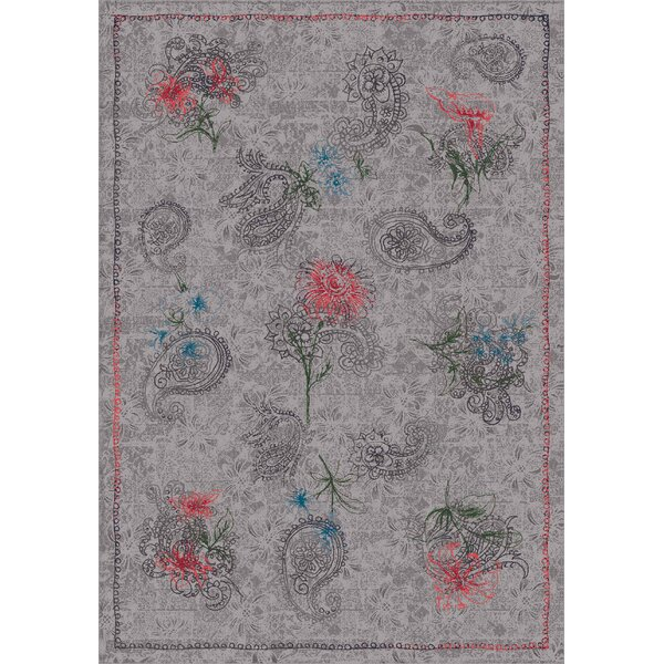 Pastiche Vintage Wispy Gray Area Rug by Milliken