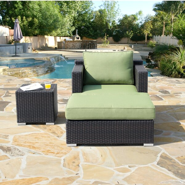 Hallwood 3 Piece Rattan Seating Group with Cushions by Ivy Bronx