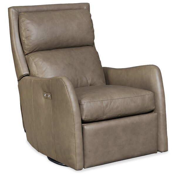 Bash Leather Power Swivel Recliner by Hooker Furniture