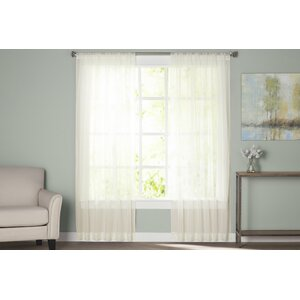 Wayfair Basics Solid Sheer Rod Pocket Curtain Panels (Set of 2)