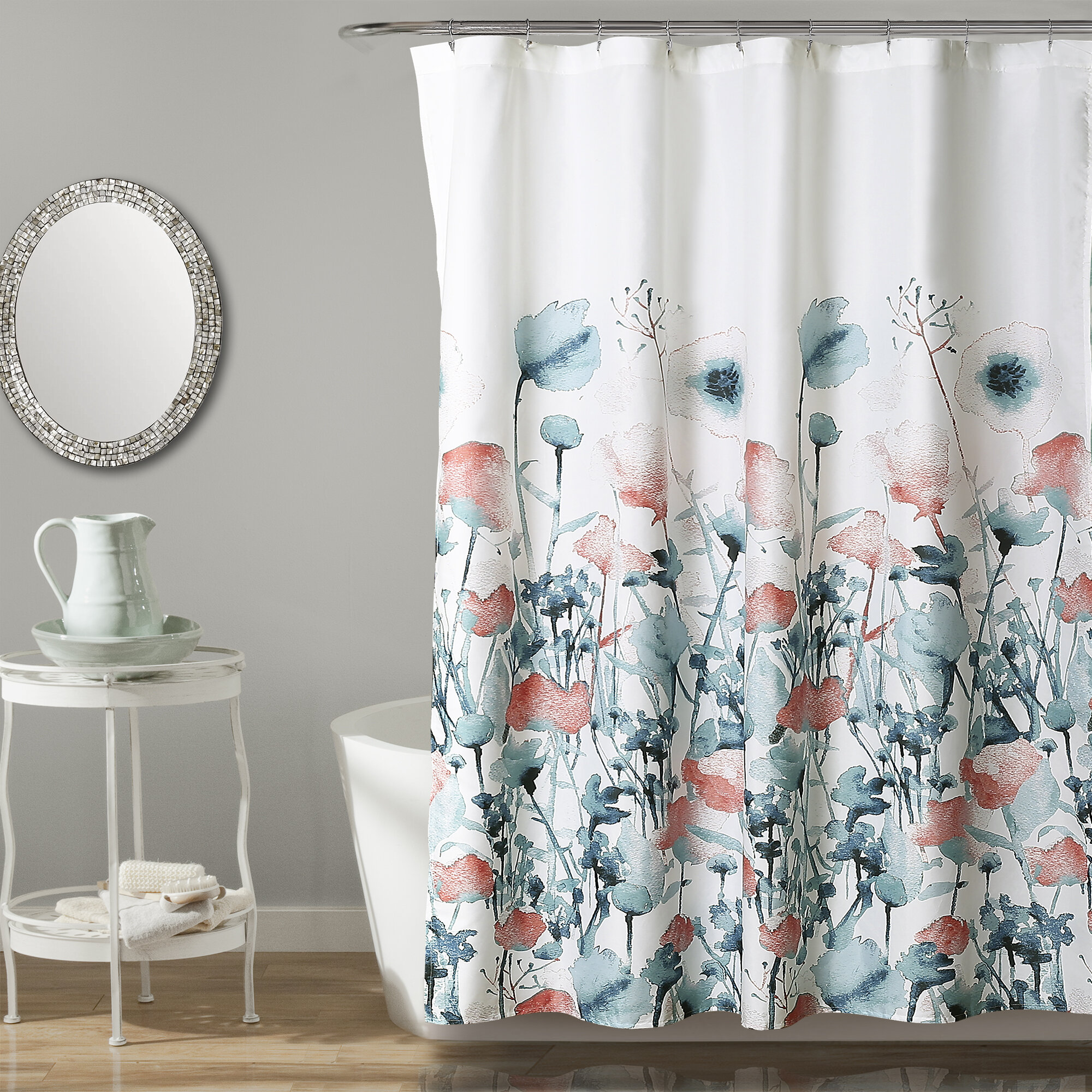 Daniella Floral Single Shower Curtain