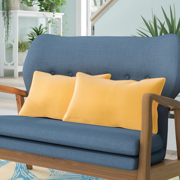Wyckoff Reversible Outdoor Lumbar Pillow (Set of 2) by Beachcrest Home