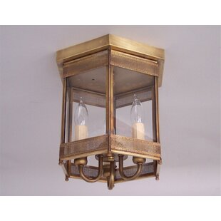 Read Reviews Traditional 3-Light Outdoor Flush Mount By Astoria Grand