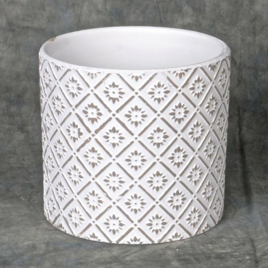 Lace Drawing Ceramic Pot Planter by Mr. MJs