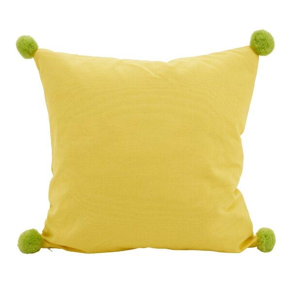 Hugo Pom-Pom Statement Cotton Throw Pillow by Wrought Studio