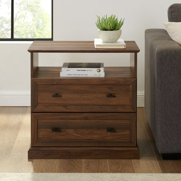 Review Watford 2 Drawer Side Table