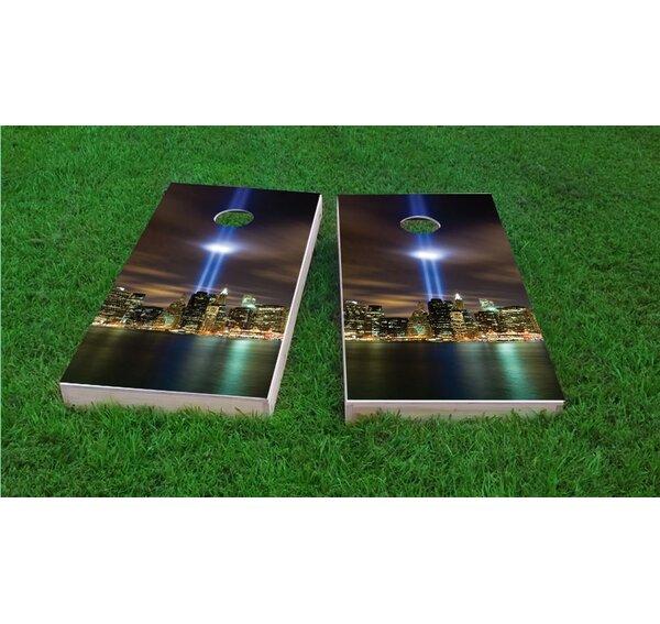 September 11th Light Memorial Cornhole Game Set by Custom Cornhole Boards