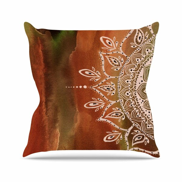 Li Zamperini Autumn Mandala Outdoor Throw Pillow by East Urban Home