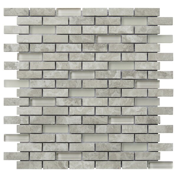 Tranquility 2 x 0.65 Natural Stone Mosaic Tile in Gray by Intrend Tile