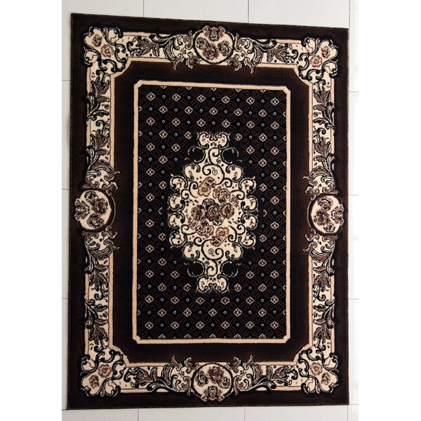 Trenton Black Area Rug by Astoria Grand