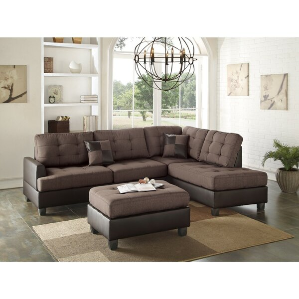 Review Mendel Right Hand Facing Sectional With Ottoman