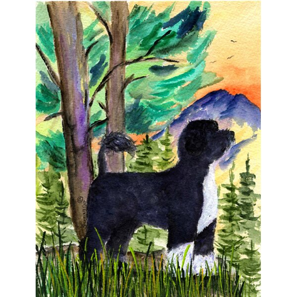 Portuguese Water Dog House Vertical Flag by Caroline's Treasures