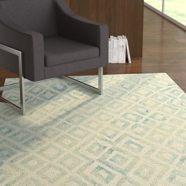 Frederick Hand-Hooked Mariner Area Rug by Ebern Designs