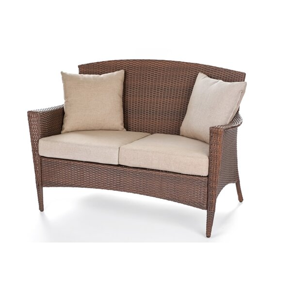Simoneau 4 Piece Rattan Sofa Seating Group with Cushions by One Allium Way