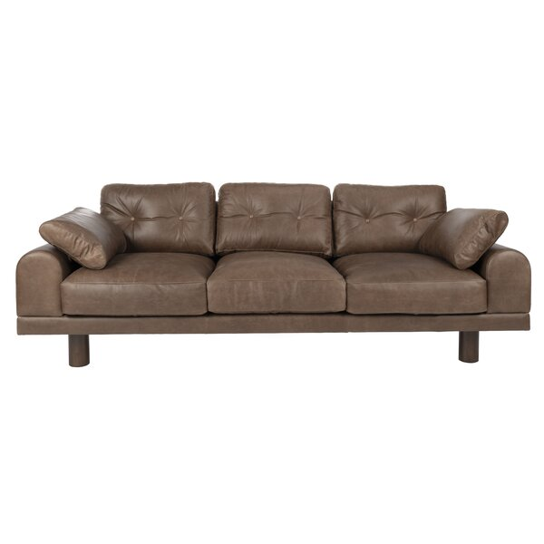 Review Detwiler Leather Sofa