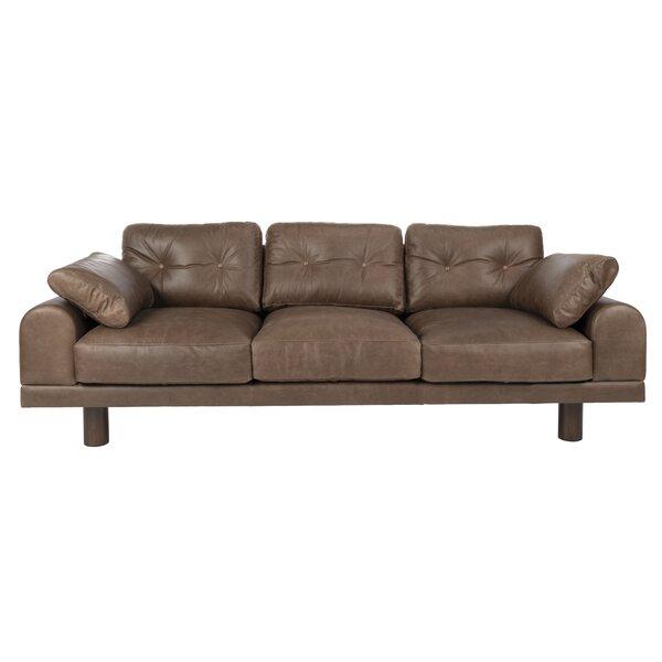 Check Price Detwiler Leather Sofa