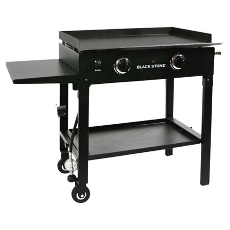 2-Burner Flat Top Propane Gas Grill with Side Shelf by DH Blackstone