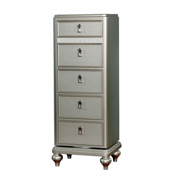 Evans Swivel 5 Drawer Lingerie Chest with Mirror by Rosdorf Park