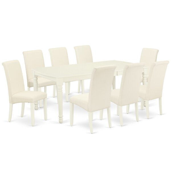 Barmedan 9 Piece Extendable Solid Wood Dining Set by Winston Porter Winston Porter