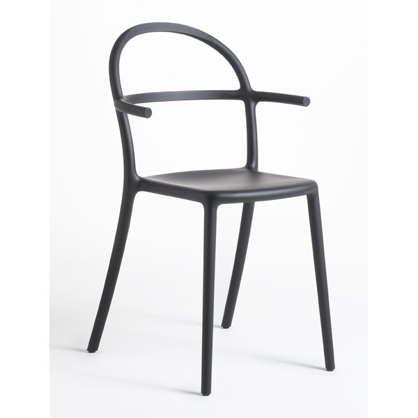 Generic C Matte Stacking Patio Dining Chair (Set of 2) by Kartell Kartell