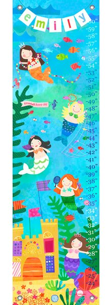 Mermaid Performance - Personalized Canvas Growth Chart by Oopsy Daisy