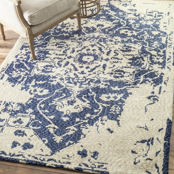 Aleria Blue/Beige Area Rug by One Allium Way