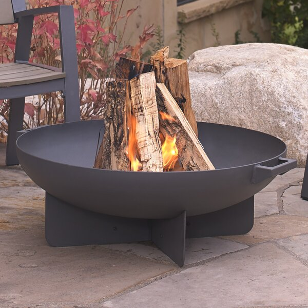 Anson Steel Wood Burning Fire Pit By Real Flame.