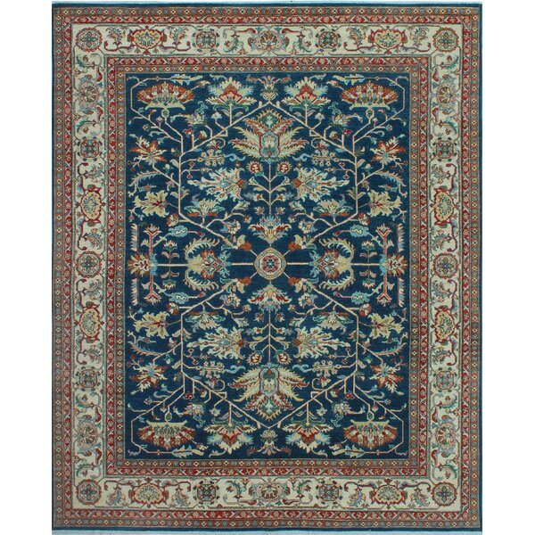 One-of-a-Kind Millbourne Fine Chobi Rudo Hand-Knotted Wool Blue Area Rug by Bloomsbury Market