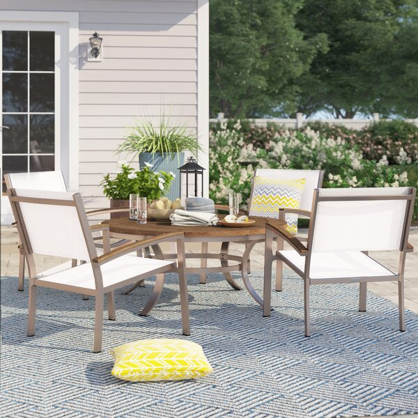 Caspian 5 Piece Teak Conversation Set by Sol 72 Outdoor