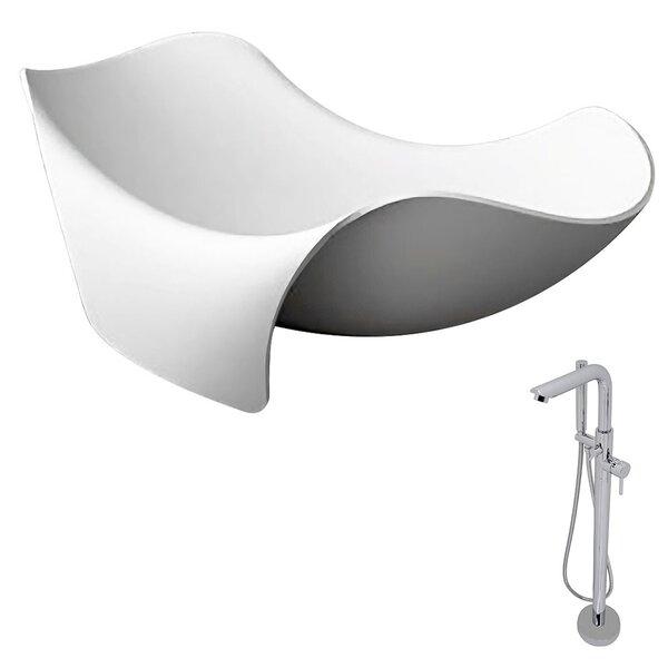 Cielo 78.7 x 55 Freestanding Soaking Bathtub by ANZZI