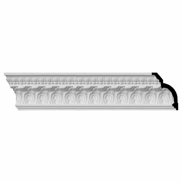 Odessa Dentil 7 3/4H x 96W x 5 1/2D Leaf Crown Moulding by Ekena Millwork