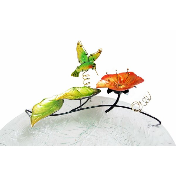 Hummingbird Glass/Metal  Tabletop Fountain by Continental Art Center