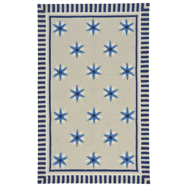 Wieland Tan/Blue Area Rug by Breakwater Bay