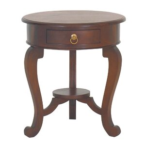 Queen Anne Fine Handcrafted Solid Mahogany Wood End Table