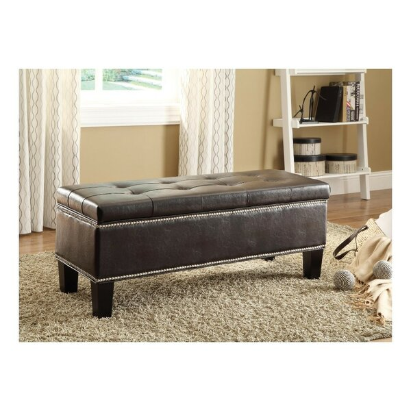Himes Lift Top Faux Leather Storage Bench by Red Barrel Studio