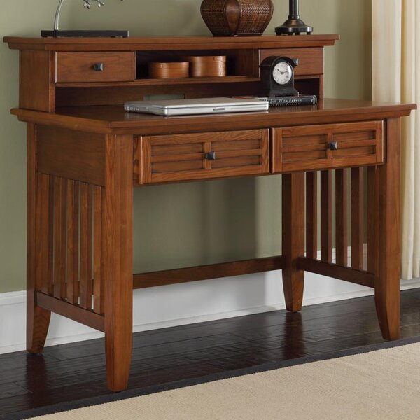 Neela Solid Wood Executive Desk With Hutch By Andover Mills by Andover Mills Herry Up