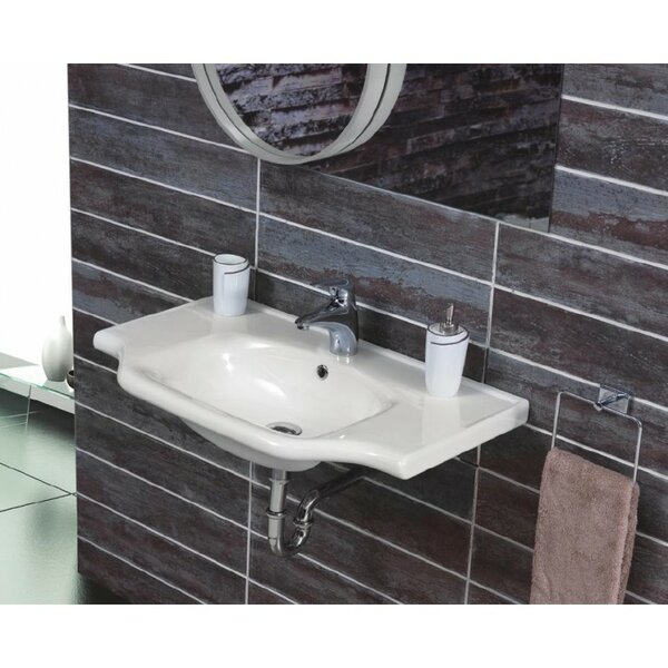 Yeni Klasik Ceramic 26 Wall Mount Bathroom Sink with Overflow by CeraStyle by Nameeks