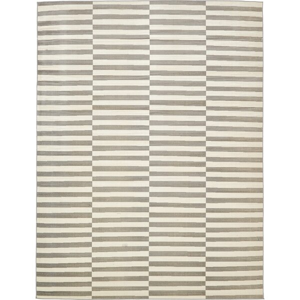 Jace Warm Gray/Ivory Area Rug by Mercury Row