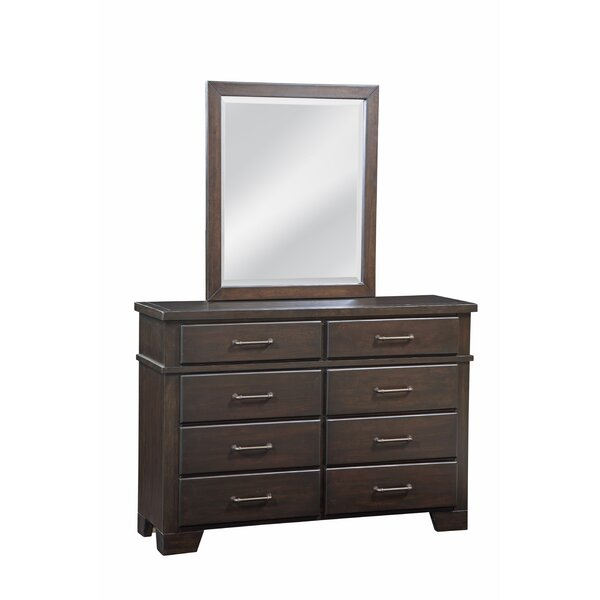 Walston 8 Drawer Double Dresser with Mirror by Breakwater Bay
